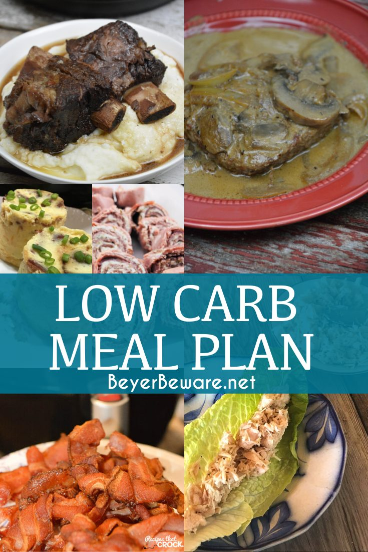 Here is a low carb meal plan that keeps a daily food intake under 21 carbs and 2000 calories. Meals utilize leftovers with a variety to your diet. #KetoMealPlan #LowCarbMealPlan #MealPrep #Keto #Lowcarb #KetoDiet