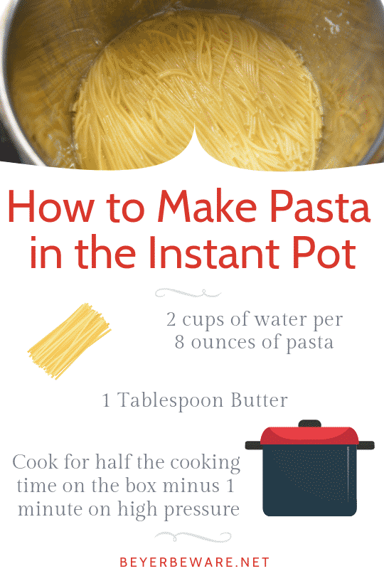 How to Make Pasta in the Instant Pot and transform it into cheesy spaghetti pasta for the perfect quick and easy side dish of Instant Pot Pasta in under 15 minutes. #InstantPot #Pasta #QuickRecipes #EasyRecipes