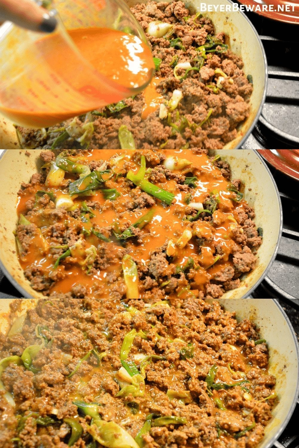 Low-Carb Taco Bake combines the favorite flavors of Mexican food in one pan for a meal that is baked to a flavorful and cheesy keto taco casserole. #LowCarbTaco #LowCarb #Keto #TacoBake #Taco #GroundBeef #MexicanFood