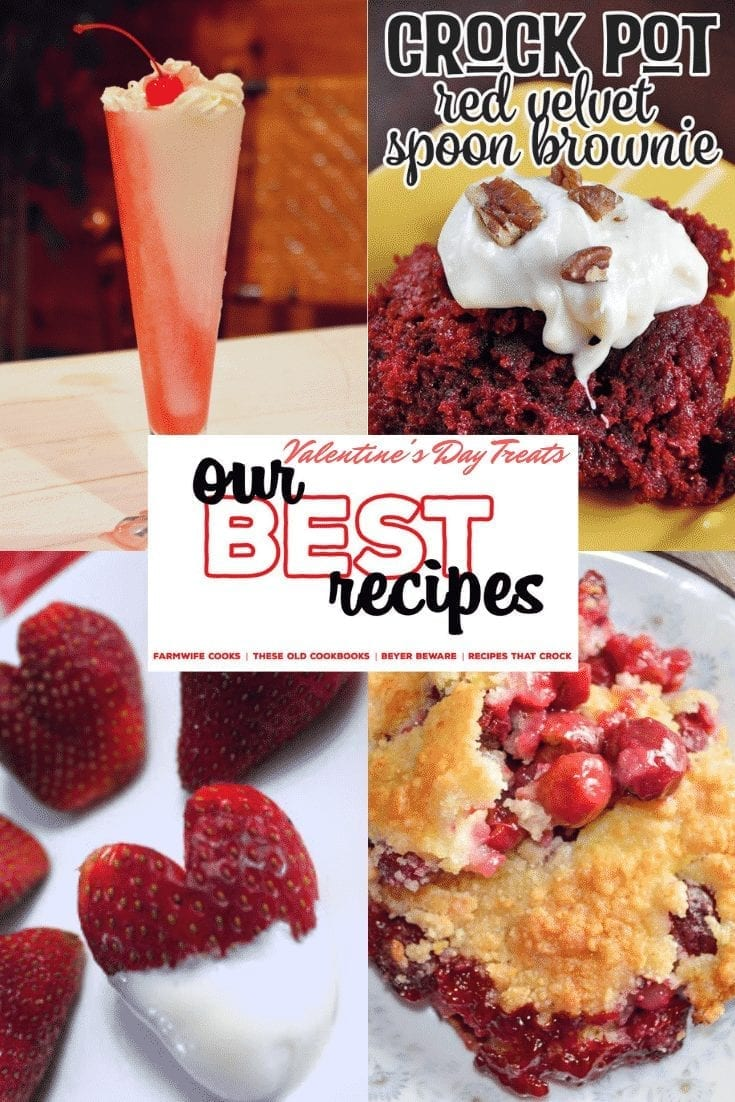 Our Best Valentine's Day Treats have everything from breakfast to snacks to drinks to desserts to make your loved ones feel special all day long. #ValentinesDay #Treats #RedFood #Strawberries #Cherries #Chocolate