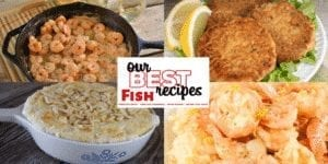 Our best fish recipes will not disappoint with everythingfrom salmon patties to tuna noodle casserole to seafood gumbo to blackened fish tacos. #Fish #Seafood #OurBestRecipes #Shrimp #Gumbo #SalmonPatties #Tuna