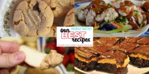Our Best Peanut Butter Recipes include everything from cookies to buckey bars to gluten free treats to even savory meals using peanut butter. #PeanutButter #Dessert #Treats #PeanutThai #Dessert #EasyRecipes