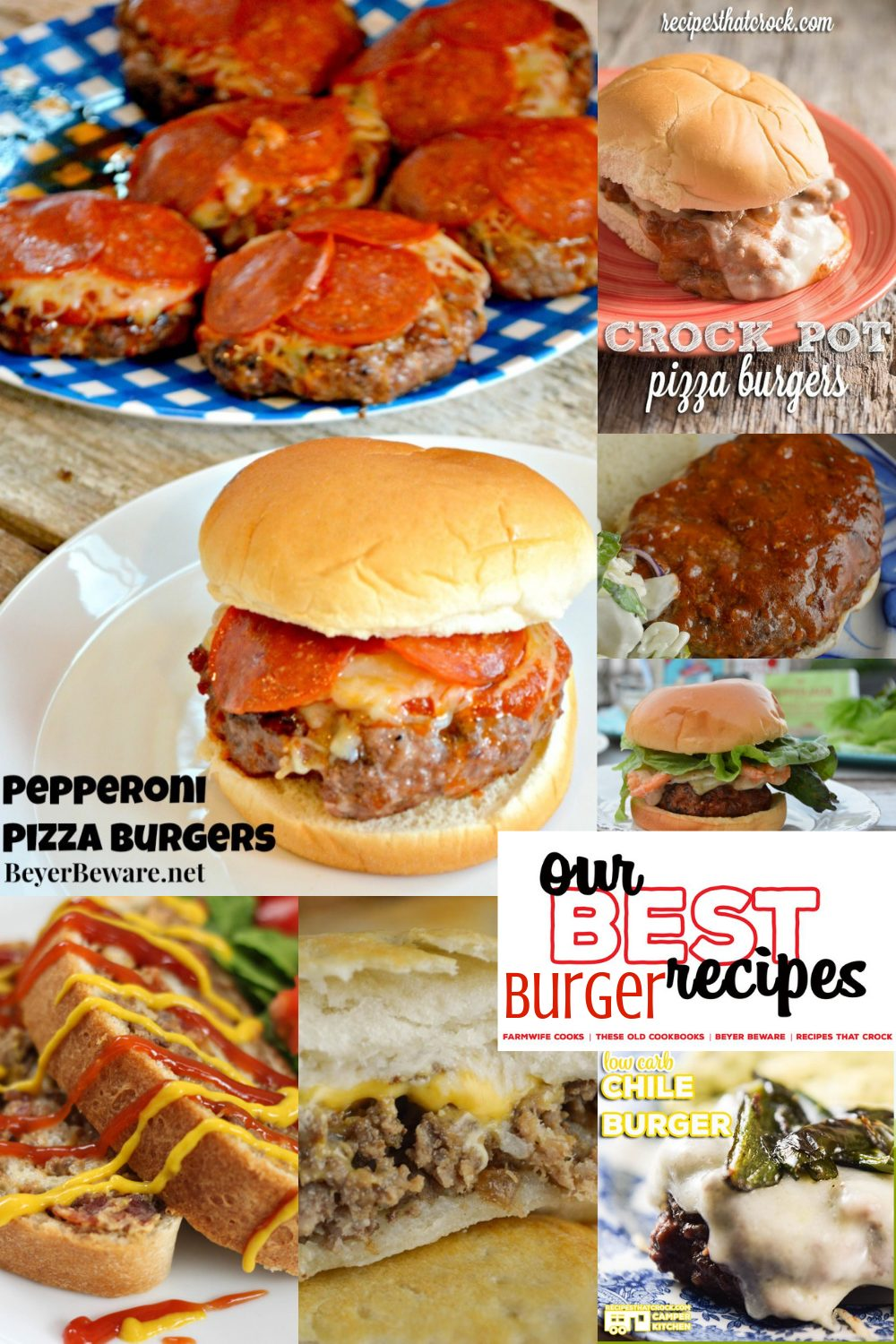 Our Best Burger Recipes - If you are obsessed with everything grilled burger, cheeseburger, or burger-themed, this edition of our best recipes is going to knock your socks off. #Burgers #Cheeseburgers #Casseroles #EasyRecipes #DinnerIdeas #OurBestRecipes