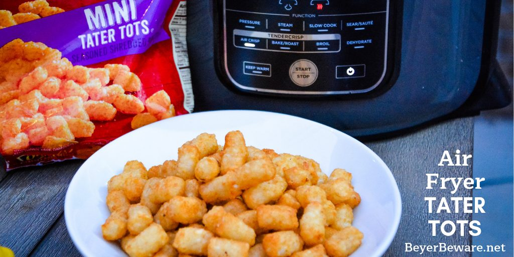 Ninja Foodi Air Fryer Tater Tots are the best made at home tater tots. So simple and ready in under 15 minutes. For extra crunch, make mini tater tots for the ultimate crispy to soft inside combination.
