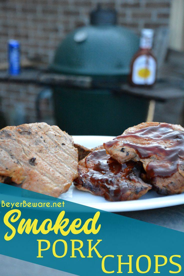 Smoked pork chops don't have to be something you have to just eat out. Enjoy this simple smoked pork chops recipe you can smoke your own pork chops on your home smoker or big green egg.