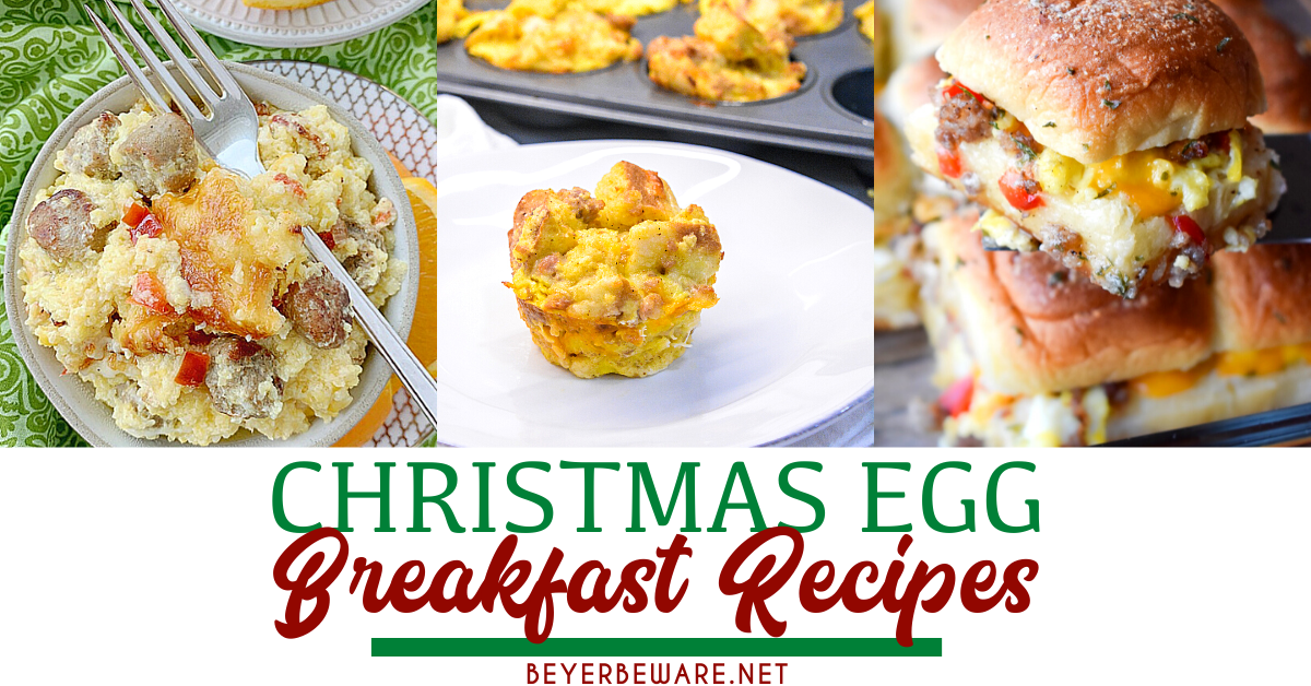 Best Christmas morning breakfast ideas from make-ahead breakfast casserole recipes to pastries and also breakfast drinks and cocktails to help feed your family without you spending all the time in the kitchen.