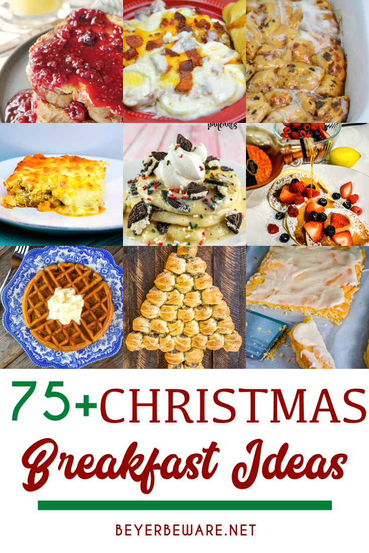 Best Christmas morning breakfast ideas are all the brunch or breakfast recipes from drinks to egg casseroles to pastries to fruit trays.
