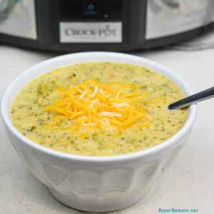 Low Carb Broccoli Cauliflower soup is the low-carb version of cheddar and broccoli soup with the help of cream cheese, heavy whipping cream, and xanthan gum to make the broccoli and cauliflower come together for a creamy low-carb soup.