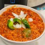 Crock pot taco hamburger and rice soup is a taco-seasoned stuffed pepper soup with a tomato base, rice, bell peppers, onions, and ground beef and slow-cooked to a delicious, hearty soup.