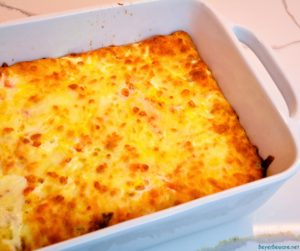 Crescent roll breakfast casserole is an easy to make sausage breakfast casserole recipe with 5 ingredients.