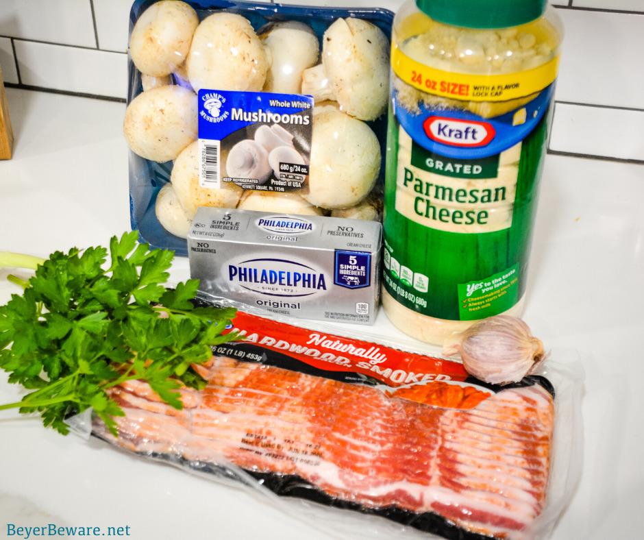 Gluten-free stuffed mushroom ingredients