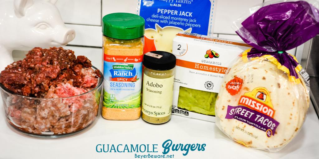Guacamole Burger Ingredients