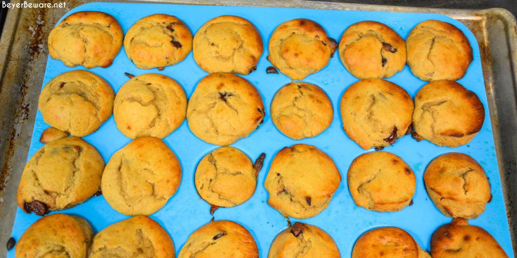 baked banana chocolate chip mini muffins