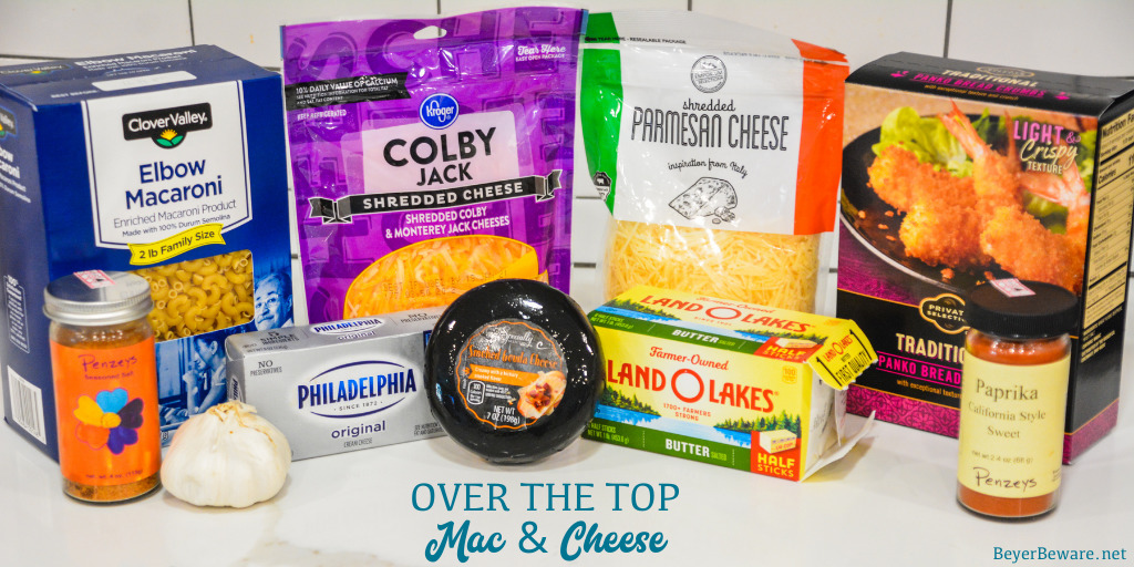Over the Top Macaroni and Cheese Ingredients