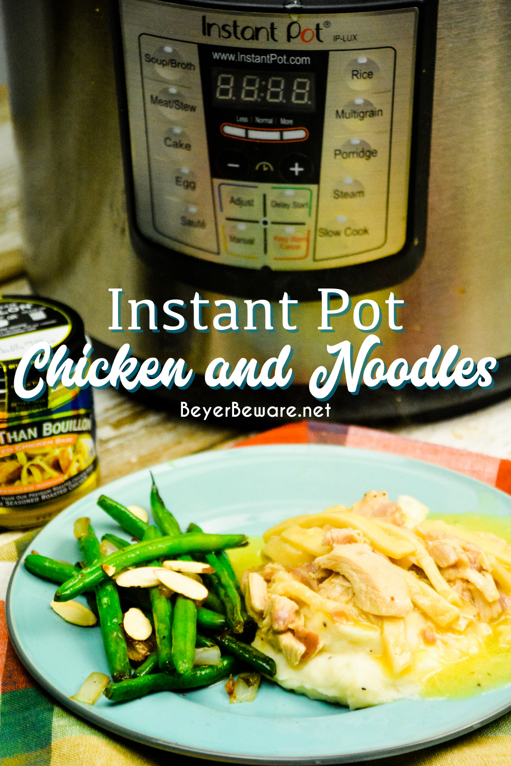 Instant Pot Chicken and Noodles is a quick chicken and noodles recipe for an easy comfort food when you are in a hurry for something for a weeknight dinner.