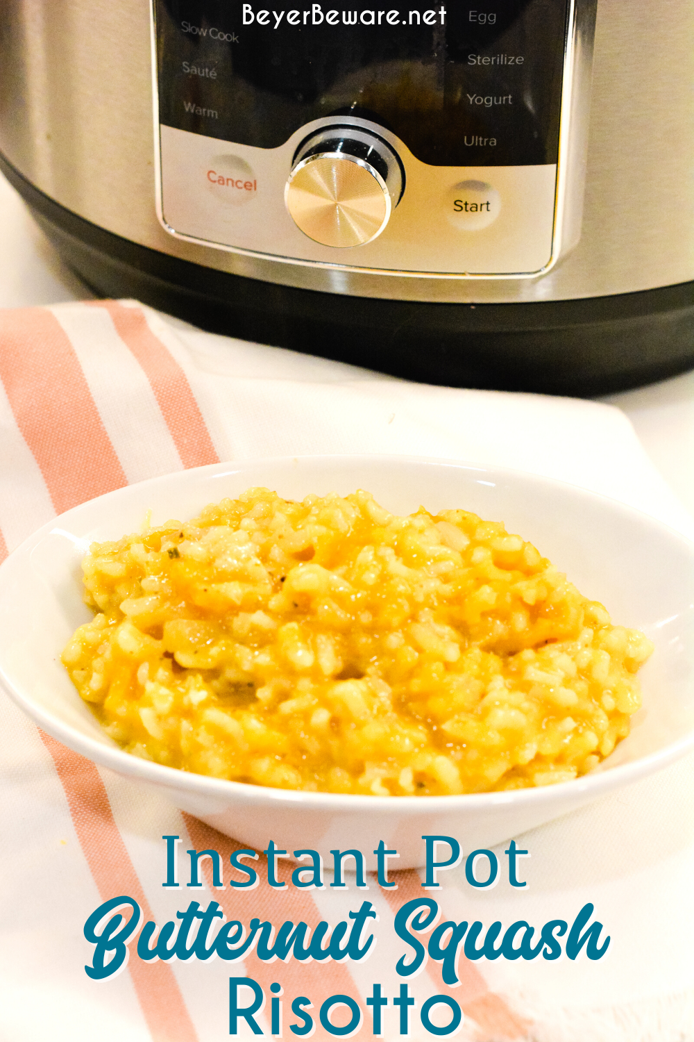 Instant Pot butternut squash risotto is a creamy risotto recipe has a hint of sweetness but savory in flavor from the onion, garlic, and sage and is made in under 20 minutes.