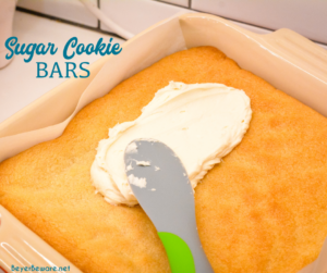 Sugar Cookie Bars are a simple bar cookie made with a package of Betty Crocker sugar cookie mix, butter, and eggs topped with a homemade Lofthouse cookie type icing for a quick and simple treat.