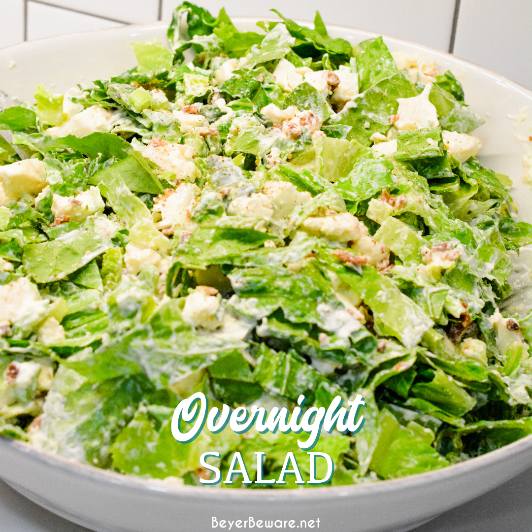 Overnight Lettuce Salad by Beyer Beware - WEEKEND POTLUCK 460