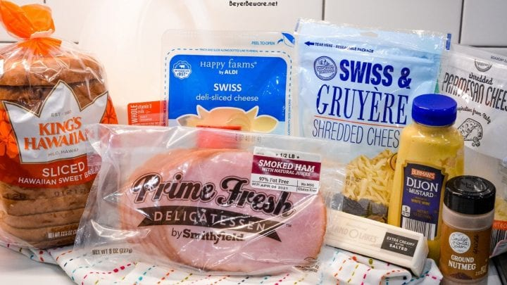 Croque Monsieur Ingredients