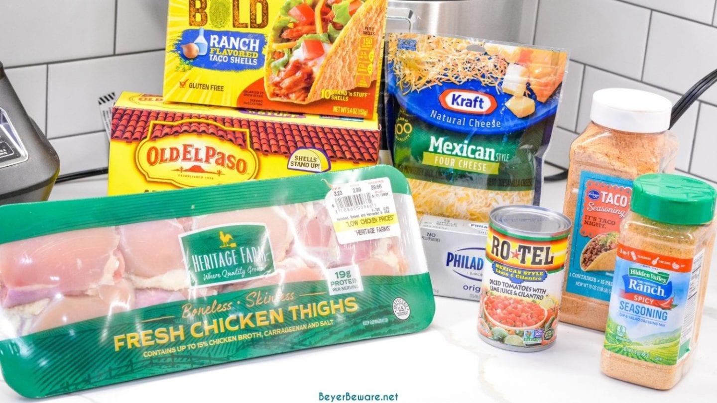Baked Chicken Tacos Ingredients