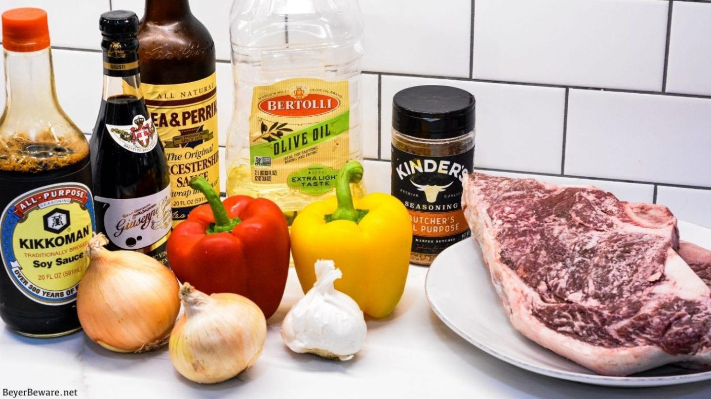 Garlic pepper steak bites ingredients