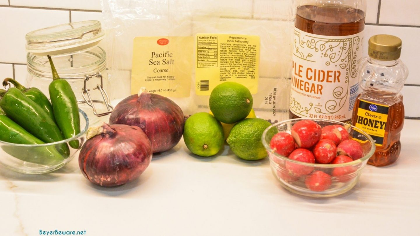 Easy Red Pickled Onions Ingredients