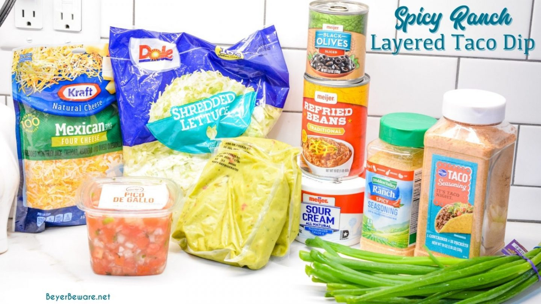 7-layer dip ingredients