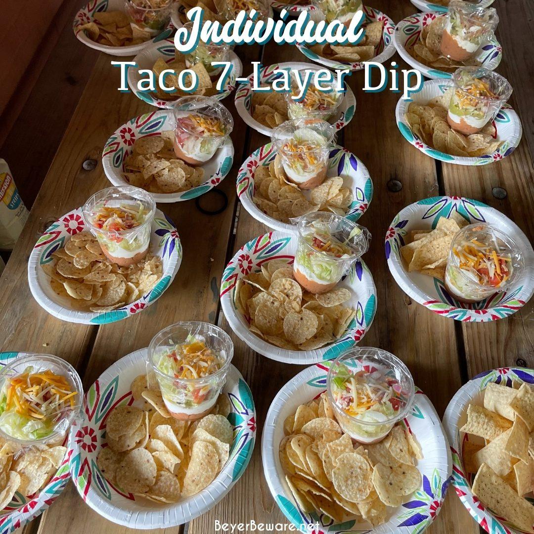 Individual Taco 7-Layer Dip Cups