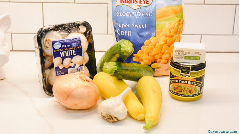 Skillet Zucchini ingredients